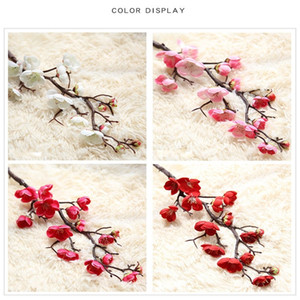 Fiore di prugna cinese falso fiore artificiale fiore di ciliegio arredamento per la casa decorazione cerimonia di nozze simulazione fiori di seta 2 7yn bb