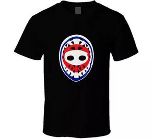 Masque de gardien de but Hockey Ken Dryden Canadiens de Montréal rétro des années 1970 T-shirt noir pour hommes