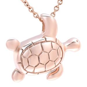 Sea Turtle Acciaio inossidabile Cremazione Urna Collana Ciondolo Cenere Titolare Mini Keepsake Memorial Jewelry per le ceneri umane