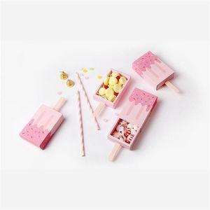 Hediyeler Kutuları Moda Karikatür Yenilik Popsicle Şekli Şeker Güzel Fold Kağıt Ambalaj Durumda Dondurma Sevimli Çekmece Hediye Birçok Renkler 0 8 b ...