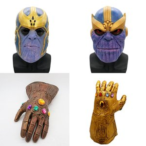 Avengers 3 Infinity War Thanos mask and gloves 2018 New Children adult Halloween cosplay Natural latex Infinity Gauntlet Toys C4550