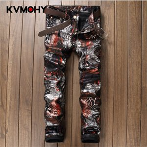 New Men Pants Hip Hop Trousers Cotton High Quality Fashion Multicolor Printing Nightclub Male Pants Pantalon Homme Streetwear