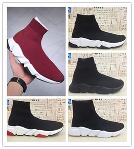 Высокое качество новый скорость носок белый черный красный мужчины кроссовки женщины обучение спорт мода высокая вырезать кроссовки размер 36-45