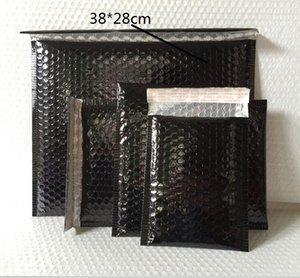 6.27 10 pcs Noir Enveloppe Rembourré Enveloppe Métallique Bulle Mailer Feuille D'aluminium Cadeau Sac Emballage Wrap