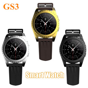 Orologio intelligente GS3 Smart Orologio Bluetooth Pedometro Sleep Smartwatch Monitor Telecamera remota Trasmissione dati musicale Orologio intelligente per iPhone Android
