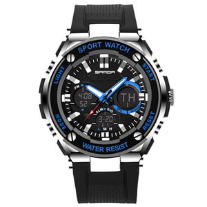 SANDA Fashion Elektronische Uhr Luxus LED Digital Militär Sport Klettern Armbanduhr Herren Silikonarmband wasserdicht Casual Watche