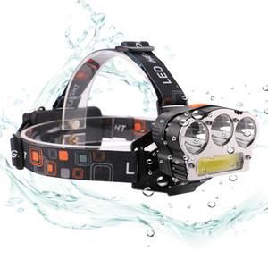 3X XM-L T6 COB LED كشافات 1500 شمعة 3 * T6 + الكوز 7 طرق USB قابلة للشحن 3 * 18650 بطارية مصباح يدوي رئيس مصباح للماء في الهواء الطلق سيارة