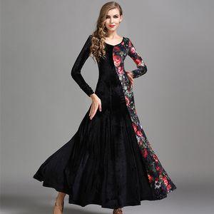 4colors Standard Ballroom Dresses Waltz Ballroom Dance Dress Women Flamenco Dance Costumes Practice Dress Wear
