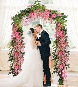 Fleurs artificielles 6.6ft Soie Wisteria Ivy Vine Suspendus Guirlande Fournitures De Fête De Mariage De Noël Maison Jardin Décoration Faux Fleurs DHL