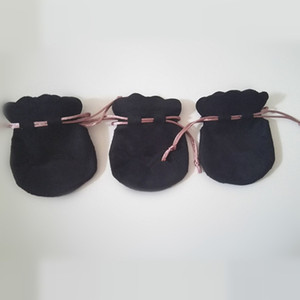 새로운 도착 포장 판도라 매력 구슬 목걸이 귀걸이 반지 펜던트 보석 20PCS 블랙 벨벳 파우치 가방 핑크 코드를 사용해보십시오