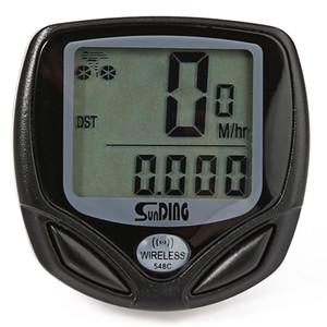 SunDing SD - 548C Suya Dayanıklı Kablosuz LCD Bisiklet Bilgisayar Kilometre Sayacı Kilometre Montaj aksesuarları ile sıkıca monte edilmesi kolaydır.
