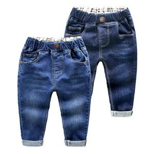 BibiCola meninos jeans nova marca de moda crianças denim calças primavera outono crianças calças casuais para a escola 2-6 ano Y18103008