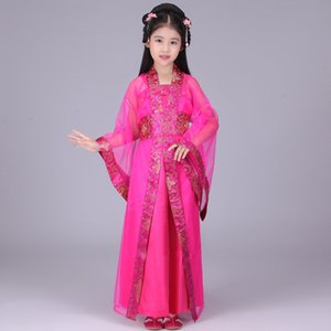 children chinese traditional hanfu dress girls clid kids kid ancient chinese hanfu dress costume woman tang clothing for girl