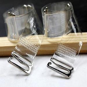 3Pairs = 6Pc Reggiseno con fibbia in metallo Cintura da donna Cinghie di reggiseno in silicone trasparente elastico regolabile Accessori Baldric 2017