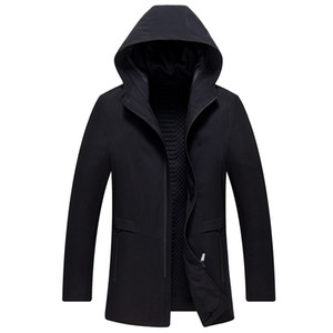 Mens Spring Autumn Brand Clothing Silm fit Trench Coat Casual Hooded Youth Coat Fashion Solid Jackets For Men