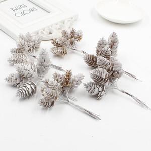 Cônes De Pin 6pcs Fleurs Artificielles Ananas Cônes En Herbe Artificielle pour Noël DIY Scrapbooking Décoration De Mariage