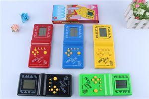 Nostálgico clássico Handheld jogar Máquina Tetris tijolo Kids Game Game Machine com o Game Reprodução de música