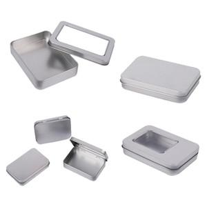 HIPSTEEN Mini Tin Box Kleine Aufbewahrungsbox Metall-Speicher-Zinn-Silber-Kasten-Organisator für Geld Münze Süßigkeit Key