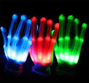 Luvas de Iluminação CONDUZIU O Flashing Cosplay Novidade Luvas de Brinquedo Levou Luz Luvas de Flash para Língua de Sinais Decoração de Festa de Natal Dia Das Bruxas luz