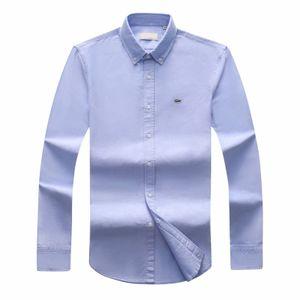 2018 19 NEUE Herbst Winter Herren Designer OXFORD Dress Shirt Herren Langarm Casual Krokodil Social Shirts Marke CL Polo-Shirts