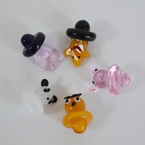 Tappo di carb colorato di vetro Gufo Stella Panda Cuore di maiale rosa Universale Cap animale Carb Cap per Banger Cappucci di moda UFO Carb 22 millimetri di diametro