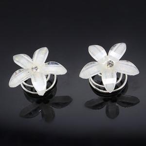 20 unids Rhinestone Swirl espiral de la boda bobinas de torsión perla pelo Spin Pins mujeres pelo joyas niñas accesorios LS-40