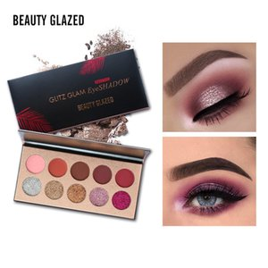 Beauty Glazed 10 Colors Shimmer Glitter Matte Eyeshadow Pallete Cosmetics Powder Powder Nude Eye Shadow Palette أصباغ Beauty
