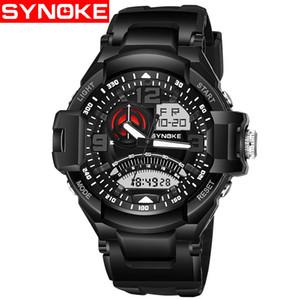 SYNOKE Hommes Sport G Style Montres Militaire Choc De Luxe LED Numérique Montre-Bracelet Résistant À La Mode Étanche Montres Relojes 67876