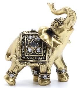 Kiwarm vintage feng shui elefante elegante tronco estatua riqueza suerte estatuilla regalo y decoración del hogar