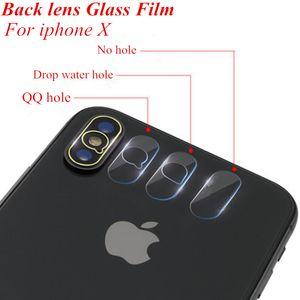 Rückseite Kameralinse flexibel weich gehärtetem Glas Displayschutzfolie für Apple iPhone X Fiberglas Protecive Film 100pcs