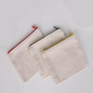 Hot sell Blank canvas zipper Pencil cases pen pouches cotton cosmetic Bags makeup bags Mobile phone clutch bag organizer