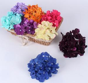 Lujo artificial Hydrangea seda flor DIY 11pcs / lot Increíble flor decorativa colorida para la decoración del banquete de boda para el hogar