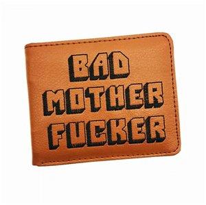Cool Marrón Monedero Bad Mother F * cker Wallet With Card Holder Carteras de hombre Bolsos Mujer Popular Dropshipping