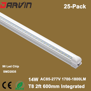 أدى أنبوب 110 فولت 220 فولت v الظل t8 أدى أنبوب ضوء 2ft 600 ملليمتر ارتفاع التجويف مع ce بنفايات المعتمدة سعر تصنيع ، رسوم الشحن