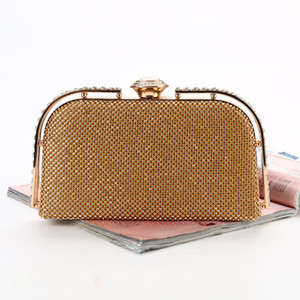 Handbags woman bag diamond-encrusted clutch bags borse crystal evening bag lock style for bridal and lady wear for party  wedding  banquet