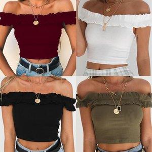unique design woman top slash neck organic cotton sexy girls boutique clothing