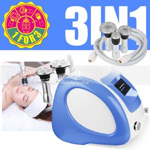 Three colors to choose 3 IN 1 Face Body Vacuum RF Photon skin lifting tighten cellulite removal slimming beauty machine salon