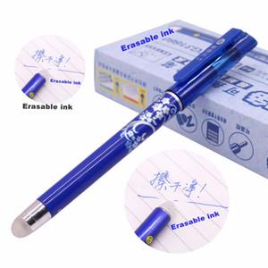 12 pcs. Pluma mágica pluma de gel borrable 0.5 mm punta azul recarga estudiante papelería pluma de escritura al por mayor