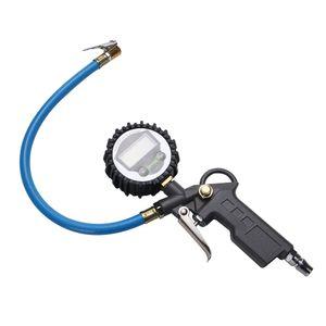 Pneumatique Air Pression Gonfleur Jauge Voiture Camion Véhicule Moto Pistolet LCD Cadran Compteur Testeur