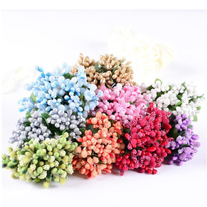 Wholesale--144 bunches=1440pcs Mini MIXED Berry W LEAF PICK CHRISTMAS CRAFTS,FAVOR BOX DECORATION* FREE SHIPPING BY EMS*