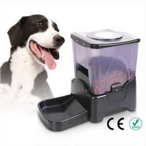 2018 оптовые продажи !!! PF-10A высокой емкости порционного управления автоматический питатель для домашних животных диспенсер черный автоматические питатели поилки
