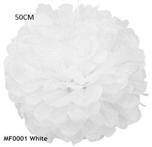 Flor de boda 20 pulgadas = 50 cm 3 unids / lote Flores de papel de seda gigante Pom Pom Decoración Colgante Cumpleaños Matrimonio Fiesta de Baby Shower