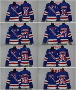 남자 여자 청소년 키즈 뉴욕 레인저스 27 Ryan McDonagh 11 Mark Messier 30 Henrik Lundqvist 36 Mats Zuccarello 블랭크 블루 유니폼