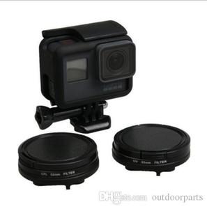 52MM Filter CPL Filter Lens Cap UV Filter+adapter ring for Go Pro Hero 5 Camera