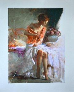 Enmarcado, envío gratis, Pino Daeni, pintura al óleo famosa del arte impresionista pintado a mano puro en lona de alta calidad, tamaños múltiples, F06 #
