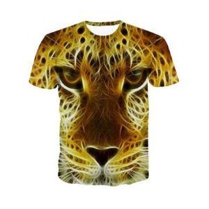 Wholesale New Design Men Women 3d Cotton T-shirt Print Lion Tiger Dog Animal Summer Tops Tees