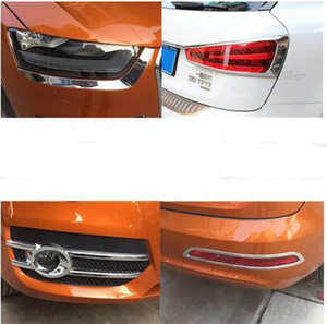 Alta calidad coche cubierta decoración Faros antiniebla delanteros, faros de adorno, cubierta luz antiniebla trasera, la cubierta de la luz trasera para Audi Q3 2013-2015