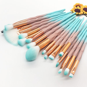 20PCS New Unicorn Diamond 20Pcs Transparent Makeup Brush Set Eye Brush Tool Manufacturers Direct Selling