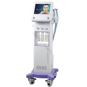 Nuevo estilo coreano 5 en 1 Refrigeración RF Microcorriente Lifting facial Masaje ultrasónico Hidrafacial Microdermabrasión Hydro Aqua Peeling Facial Machine