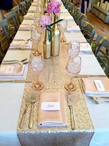 LQIAO 3MM Sequin Chemin de Table Champagne Tableau DRAPEAU Fournitures Tissu décoration pour la maison de mariage anniversaire baby shower
